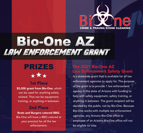 Voting is open for the 2021 Bio-One AZ Law Enforcement Safety Grant!
